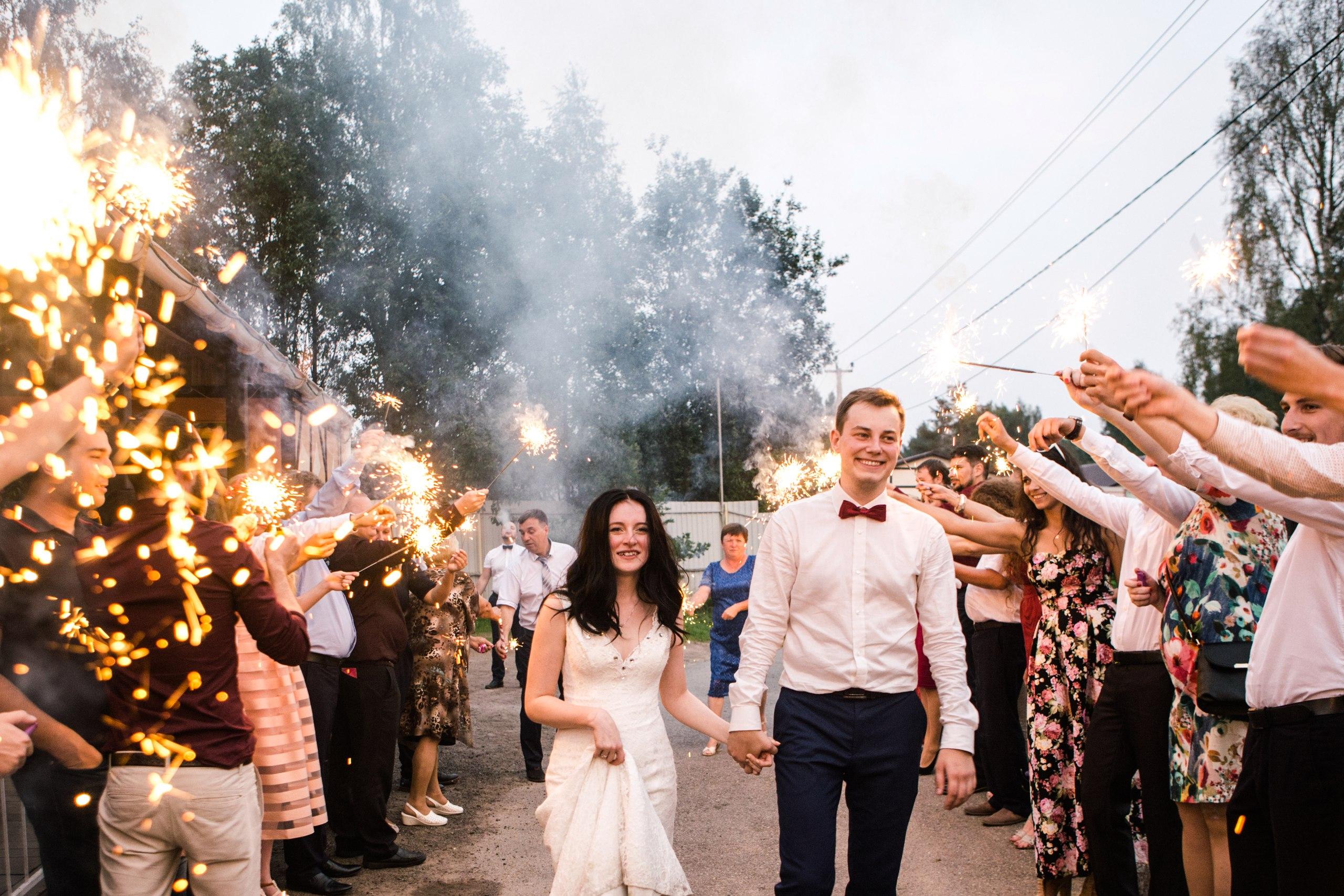 вместо воздушных шаров на свадьбе